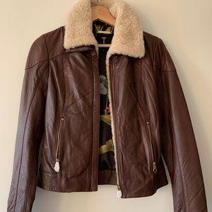 Ted Baker Leather Shearing Jacket